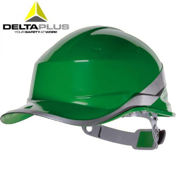 Deltaplus  Casque de chantier forme casquette BASEBALL VERT