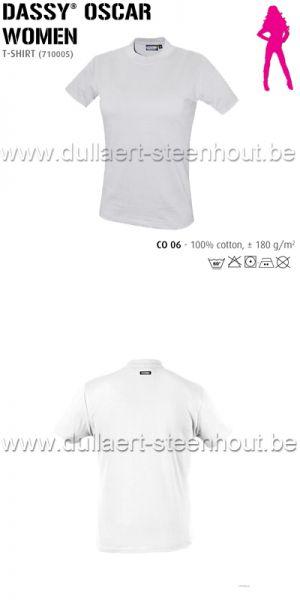 DASSY® Oscar Women (710005) T-shirt pour femmes - blanc