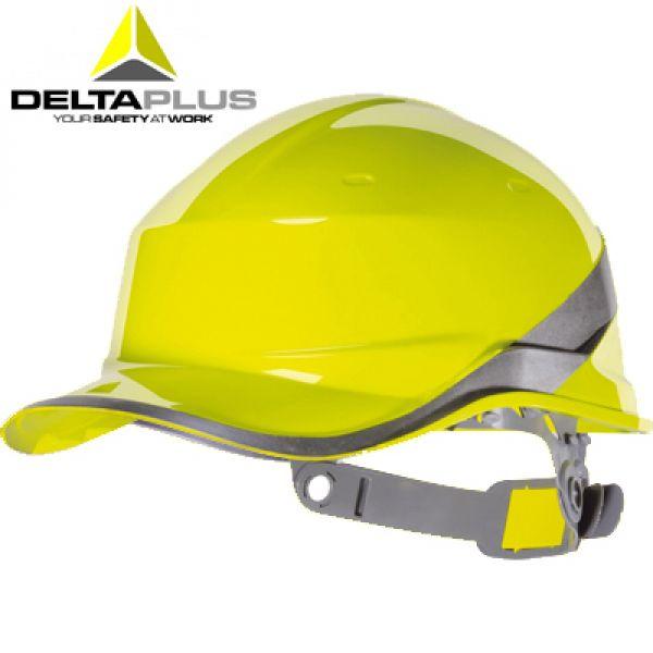 Deltaplus Casque de chantier forme casquette BASEBALL JAUNE