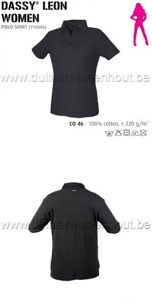 DASSY® Leon Women (710006) Polo pour femmes - noir