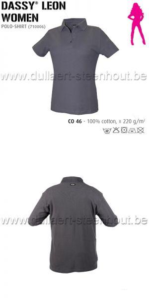 DASSY® Leon Women (710006) Polo pour femmes - gris