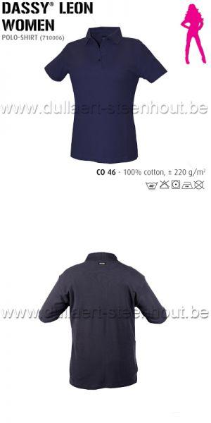 DASSY® Leon Women (710006) Polo pour femmes - bleu marine