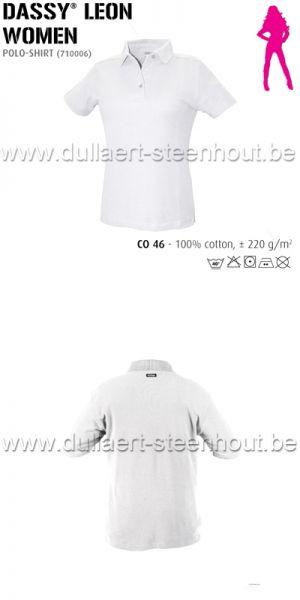 DASSY® Leon Women (710006) Polo pour femmes - blanc