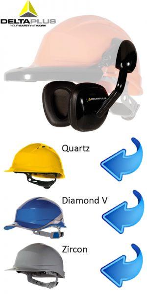 Deltaplus  Coquilles antibruit pour casque de chantier NOIR