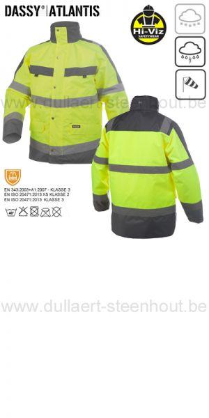 DASSY® Atlantis (300346) Parka imperméable haute visibilité - jaune fluo/gris