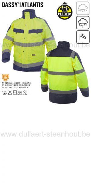 DASSY® Atlantis (300346) Parka imperméable haute visibilité - jaune fluo/marine