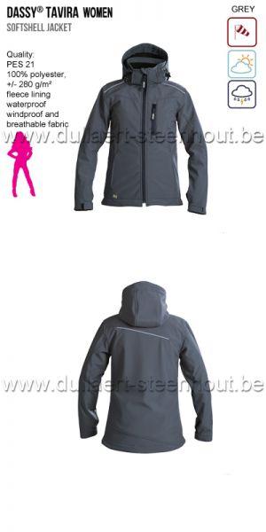 DASSY® Tavira Women (300439) Veste softshell - gris