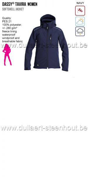 DASSY® Tavira Women (300439) Veste softshell - marine