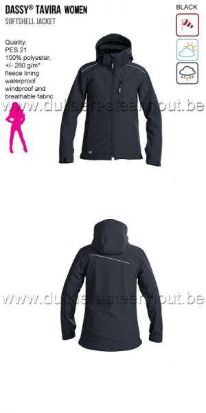DASSY® Tavira Women (300439) Veste softshell - noir