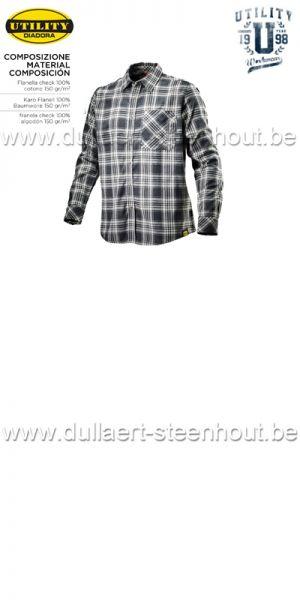 Diadora Utility - SHIRT CHECK  Chemise de travail / noir-blanc