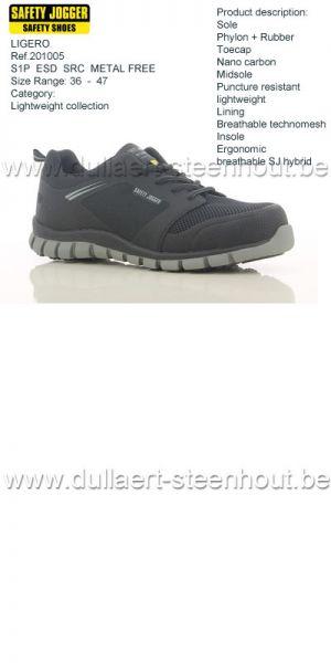 Safety Jogger - Chaussures de sécurité  LIGERO  S1P  ESD  SRC  non-métalique
