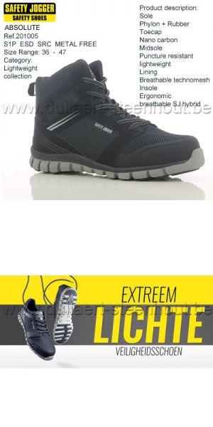 Safety Jogger - Chaussures de sécurité ABSOLUTE S1P ESD SRC non-métalique