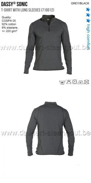 DASSY® Sonic (710012) T-shirt manches longues - gris/noir