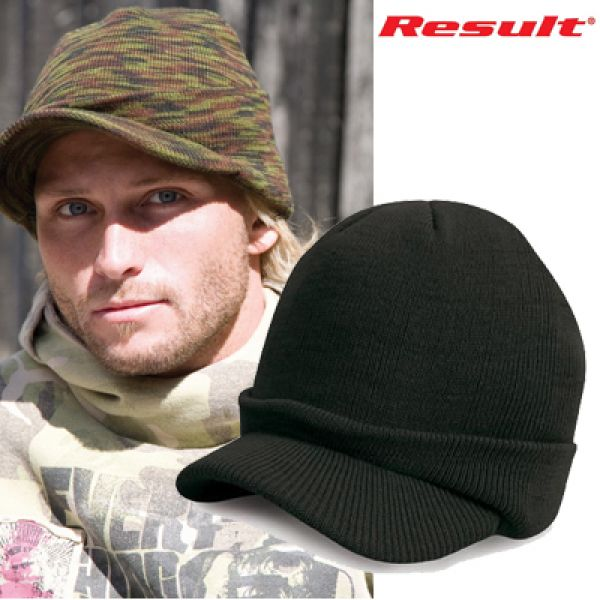 Result - Esco Army Knitted Hat Noir