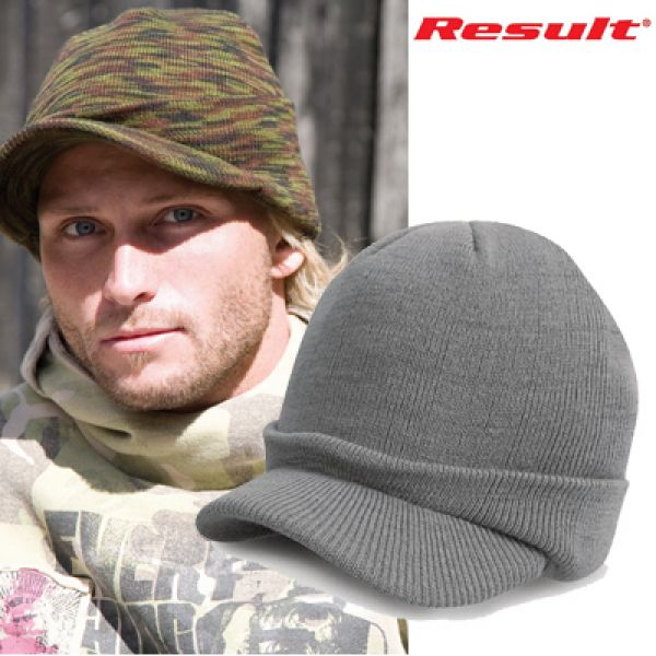Result - Esco Army Knitted Hat Gris