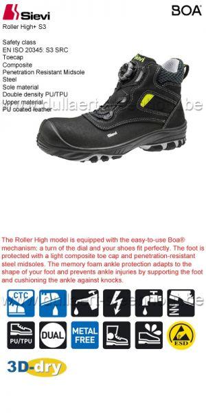 Sievi - Chaussures de sécurité Roller High+ S3 BOA