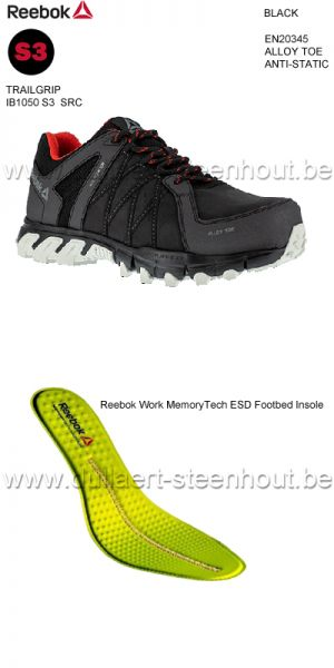 Reebok - Chaussures de sécurité Reebok S3 IB1050 Trailgrip