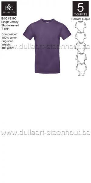 PROMOPACK B&C E190 - 5 T-shirts / Adiant purple