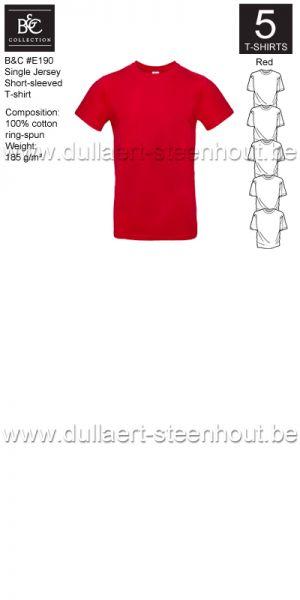 PROMOPACK B&C E190 - 5 T-shirts / Red