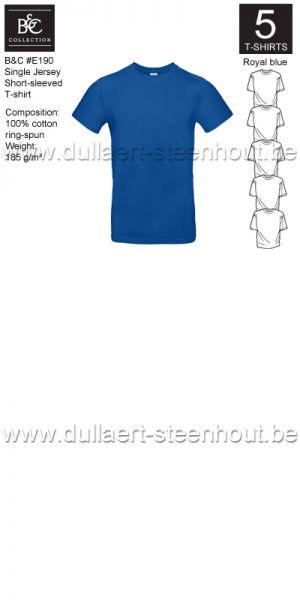 PROMOPACK B&C E190 - 5 T-shirts / Royal blue