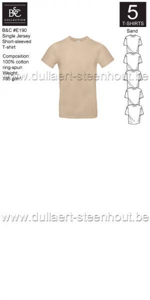 PROMOPACK B&C E190 - 5 T-shirts / Sand
