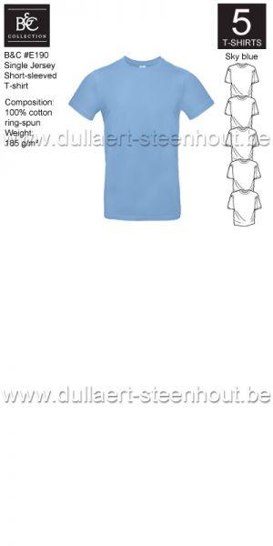 PROMOPACK B&C E190 - 5 T-shirts / Sky blue