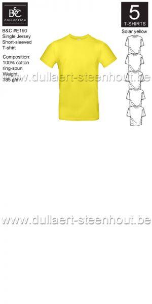 PROMOPACK B&C E190 - 5 T-shirts / Solar yellow