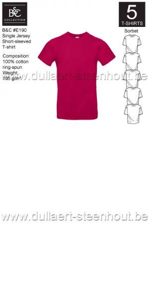 PROMOPACK B&C E190 - 5 T-shirts / Sorbet