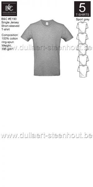 PROMOPACK B&C E190 - 5 T-shirts / Sport grey
