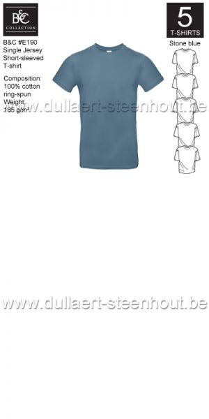 PROMOPACK B&C E190 - 5 T-shirts / Stone