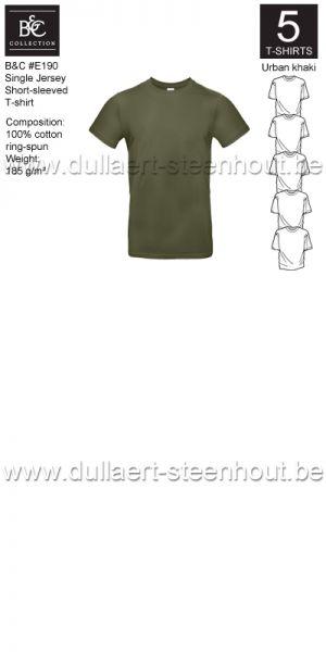 PROMOPACK B&C E190 - 5 T-shirts / Urban khaki