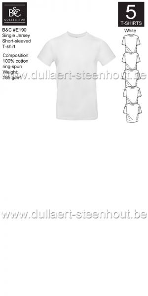 PROMOPACK B&C E190 - 5 T-shirts / White