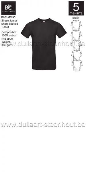 PROMOPACK B&C E190 - 5 T-shirts / Black