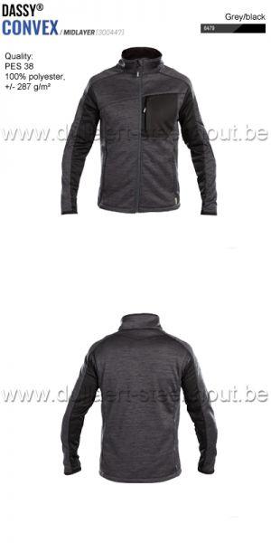 DASSY® Convex (300447) Veste intermediaire - gris/noir