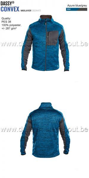 DASSY® Convex (300447) Veste intermediaire - bleu azur / gris