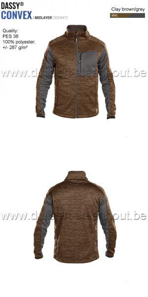 DASSY® Convex (300447) Veste intermediaire - brun/gris