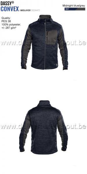 DASSY® Convex (300447) Veste intermediaire - bleu nuit/gris