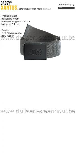 DASSY® - Xantus (800102) Ceinture élastiquée imprimée - gris