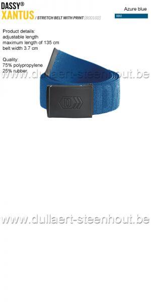 DASSY® - Xantus (800102) Ceinture élastiquée imprimée - bleu azur