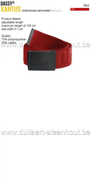 DASSY® - Xantus (800102) Ceinture élastiquée imprimée - rouge