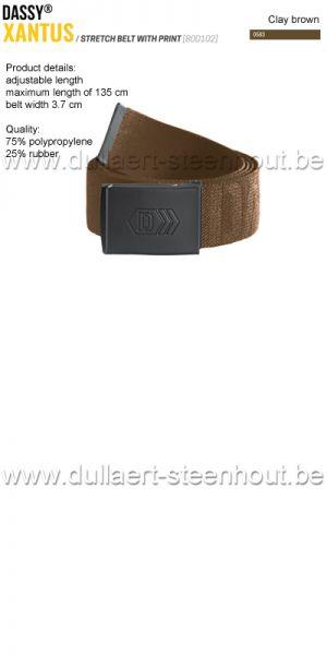 DASSY® - Xantus (800102) Ceinture élastiquée imprimée - brun