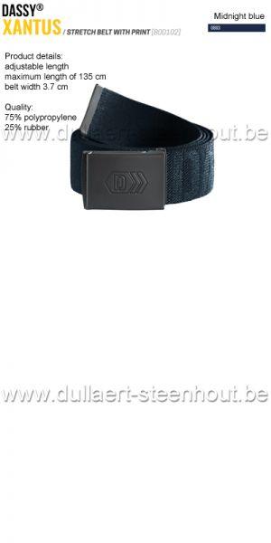 DASSY® - Xantus (800102) Ceinture élastiquée imprimée - bleu nuit