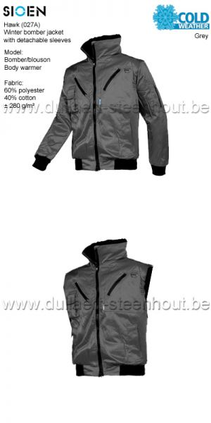 Sioen - Veste multifonctionelle avec manches et doublure en détachables - gris - 027A