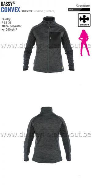 DASSY® Convex Women (300474) Veste intermediaire pour femmes - gris/noir