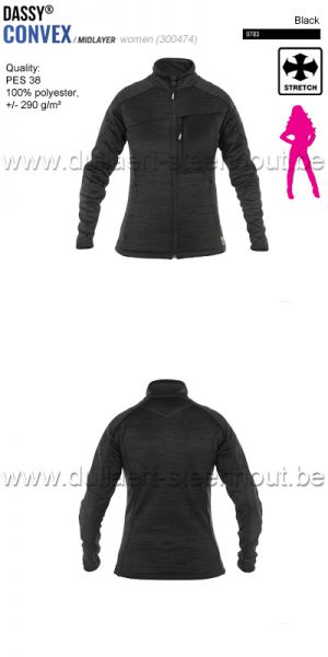 DASSY® Convex Women (300474) Veste intermediaire pour femmes - noir