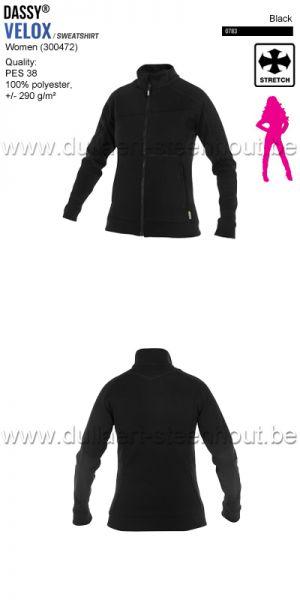 DASSY® Velox Women (300472) Sweat-shirt pour femmes - noir