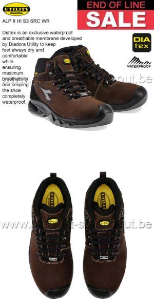 Diadora Utility - ALP II HI S3 SRC WR  Chaussures de securité montantes