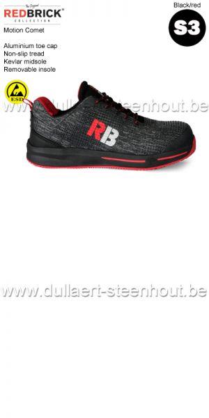 Redbrick motion - Comet S3 Chaussure de securité - noir/rouge