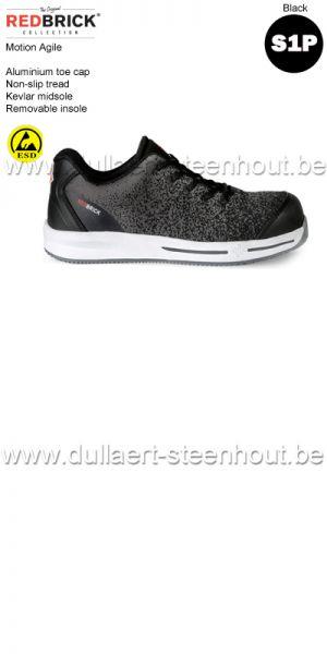 Redbrick motion -  Agile S1P Chaussures de sécurité - noir/gris