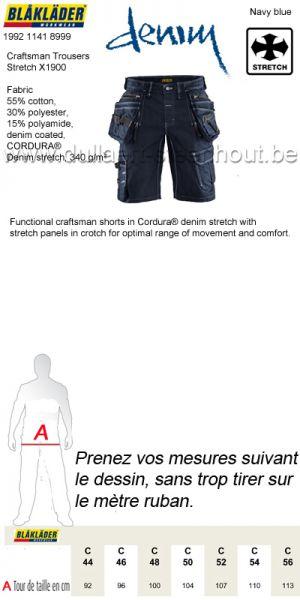 Blaklader - 199211418999 Short de travail X1900 Artisan Stretch 2D